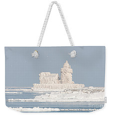 Cleveland Harbor West Pierhead Light II Weekender Tote Bag by Clarence Holmes