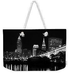 Cleveland Skyline Weekender Tote Bag by Dale Kincaid