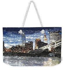 Cleveland Skyline - Typography Weekender Tote Bag