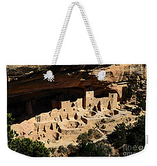 Cliff Palace At Mesa Verde National Park Anasazi Ruin Watercolor Digital Art Weekender Tote Bag