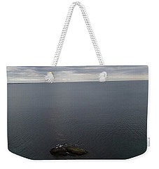 Weekender Tote Bag featuring the photograph Cliff View by Robert Nickologianis