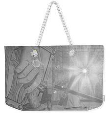 Clinging To The Cross Lights Weekender Tote Bag by Justin Moore