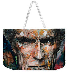Clint Eastwood Weekender Tote Bag by Laur Iduc