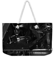 Clocks Black And White Weekender Tote Bag