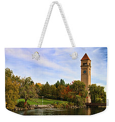 Clocktower And Autumn Colors Weekender Tote Bag