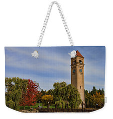 Clocktower Fall Colors Weekender Tote Bag