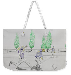 Close Play At First Weekender Tote Bag