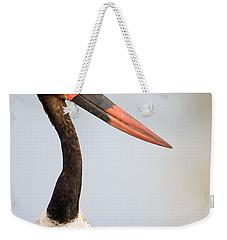 Close-up Of A Saddle Billed Stork Weekender Tote Bag
