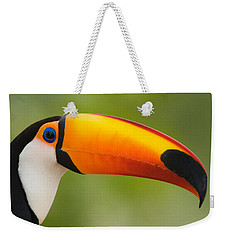 Close-up Of A Toco Toucan Ramphastos Weekender Tote Bag