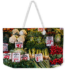 Close-up Of Pike Place Market, Seattle Weekender Tote Bag by Panoramic Images
