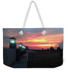 Closed Flood Gates Sunset Weekender Tote Bag by Deborah Lacoste