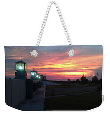 Closed Flood Gates Sunset Weekender Tote Bag
