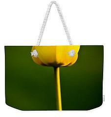 Closed Yellow Flower Weekender Tote Bag