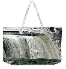 Closeup Of Icy Niagara Falls Weekender Tote Bag
