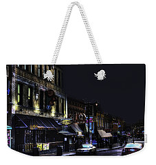 Memphis - Night - Closing Time On Beale Street Weekender Tote Bag
