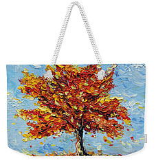 Weekender Tote Bag featuring the painting Clothed With Joy by Meaghan Troup