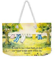 Clothesline Psalm 51 Weekender Tote Bag
