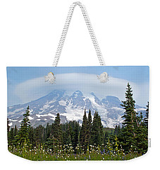 Cloud Capped Rainier Weekender Tote Bag