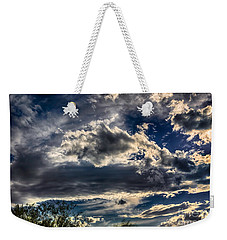 Weekender Tote Bag featuring the photograph Cloud Drama by Mark Myhaver