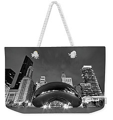 Cloud Gate And Skyline Weekender Tote Bag by Adam Romanowicz