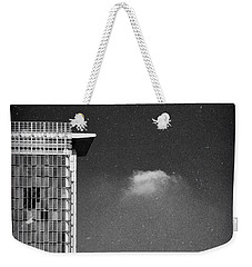 Weekender Tote Bag featuring the photograph Cloud Lamp Building by Silvia Ganora