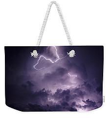 Cloud Lightning Weekender Tote Bag by James Peterson