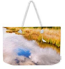 Cloud Reflection In Water Digital Art Weekender Tote Bag by Vizual Studio