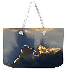 Weekender Tote Bag featuring the photograph Cloud Shadows by Charlotte Schafer