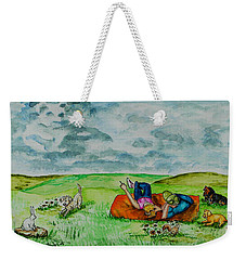 Cloud Shapes Weekender Tote Bag