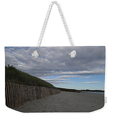 Weekender Tote Bag featuring the photograph Clouded Beach by Robert Nickologianis