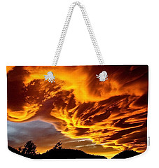 Weekender Tote Bag featuring the photograph Clouds 2 by Pamela Cooper
