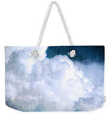 Clouds And Ice Weekender Tote Bag by Roselynne Broussard