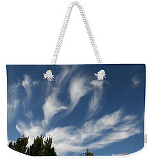 Weekender Tote Bag featuring the photograph Clouds by David S Reynolds