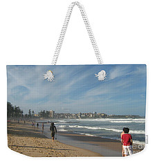 Weekender Tote Bag featuring the photograph Clouds Over Manly Beach by Leanne Seymour