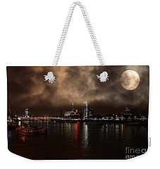 Clouds Over The River Thames Weekender Tote Bag by Doc Braham