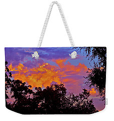 Weekender Tote Bag featuring the photograph Clouds by Pamela Cooper