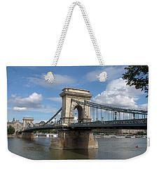 Clouds Sky Water And Bridge Weekender Tote Bag