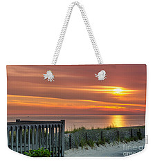 Weekender Tote Bag featuring the photograph Sandy Neck Beach Sunrise by Mike Ste Marie