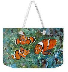 Clown Fish Art Original Tropical Painting Weekender Tote Bag