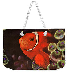 Clown Fish In Hiding  Pastel Weekender Tote Bag