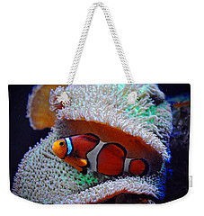 Weekender Tote Bag featuring the photograph Clown Fish by Savannah Gibbs