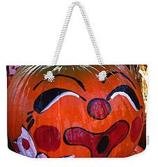 Clown Pumpkin Weekender Tote Bag by Denyse Duhaime