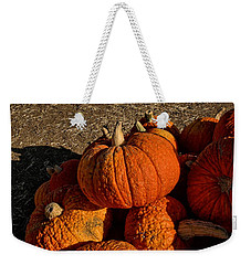 Weekender Tote Bag featuring the photograph Knarly Pumpkin by Michael Gordon