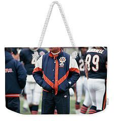 Coach Ditka Standing In A Stadium Weekender Tote Bag