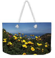 Weekender Tote Bag featuring the photograph Coastal California Poppies by Susan Rovira