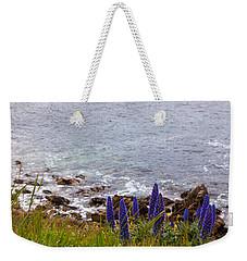 Coastal Cliff Flowers Weekender Tote Bag by Melinda Ledsome