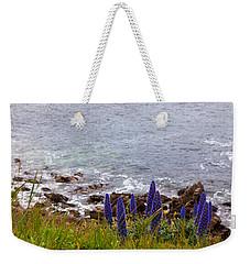 Coastal Cliff Flowers Weekender Tote Bag
