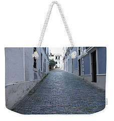 Weekender Tote Bag featuring the photograph Cobble Street by David S Reynolds