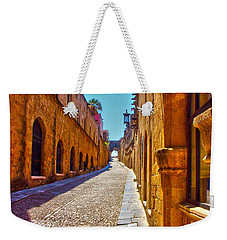 Rhodes Cobbled Street Weekender Tote Bag