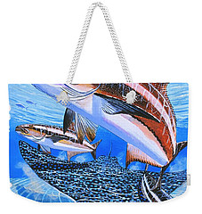 Cobia On Rays Weekender Tote Bag by Carey Chen
